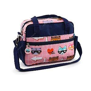 Bolsa de Viagem Pequena Guaxinim Rosa