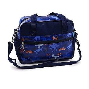 Bolsa de Viagem Pequena Dino Azul