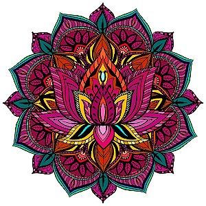 Tapete Mandala Flor de Lótus Colorida