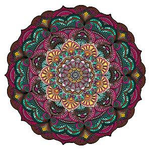 Tapete Mandala do Amor Colorida