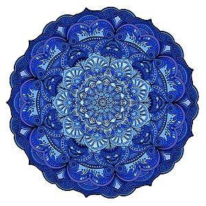 Tapete Mandala do Amor Azul
