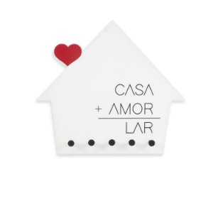 Porta-Chaves Casa + Amor