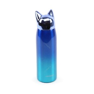 Garrafa Térmica de Inox a Vácuo Raposa Degradê Azul