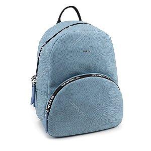 Bolsa Mochila Feminina Lisa Azul