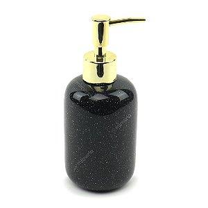 Porta Sabonete Líquido em Cerâmica Preto