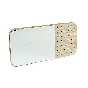 Porta-Joias de Espelho com Prateleira de Madeira Smart Choice