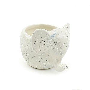 Cachepô de Cerâmica Elefantinho Branco