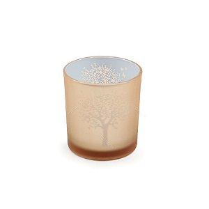 Castiçal de Vidro Árvore da Vida Dourado