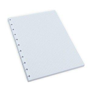Refil Quadriculado para Planner Caderno Inteligente Grande