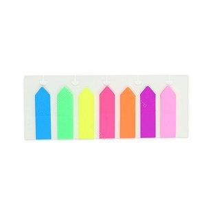 Kit Marcador de Página Adesivo Colorido Caderno Inteligente