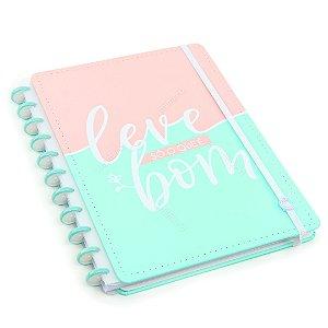 Caderno Inteligente Leve Só O Que É Bom Grande Verde e Rosa