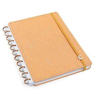Caderno Inteligente com Glitter Grande Bronze