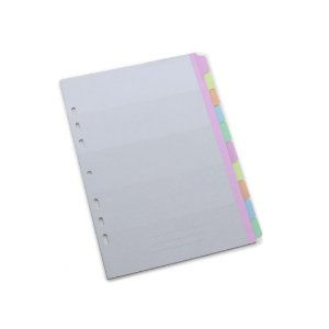 Refil Caderno Ultra 10 Separadores Coloridos