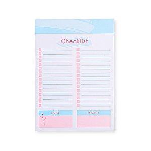 Bloco de Mesa Checklist La Bela Pequeno