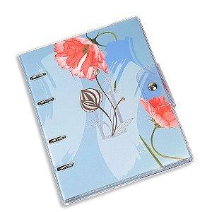 Caderno Fichário PVC La Bela Azul Ultra