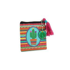 Porta Moedas Flat Cacto Mexicano
