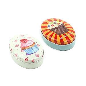 Kit 2 Latinhas Ovais Grandes Big Cupcakes