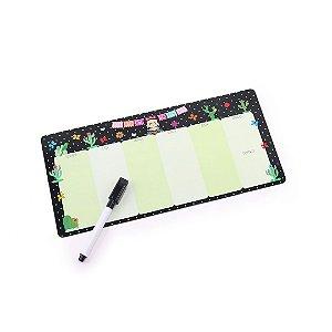 Planner Semanal Frida Color Magnético Horizonal com Caneta