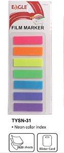 Marcador de Página Adesivo Retangular Neon com 7 Cores