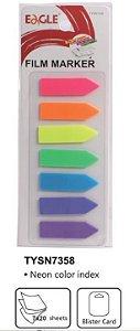 Marcador de Página Adesivo Seta Neon com 7 Cores