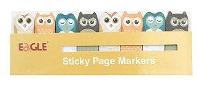 Marcador de Páginas Sticky Corujas