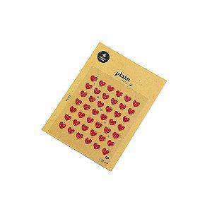 Cartela de Adesivos Decorados para Planner Corações