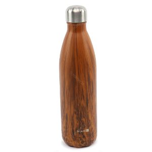 Garrafa Térmica de Inox Parede Dupla 750 ml Grey Wood