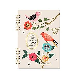 Planner Mensal Pássaros