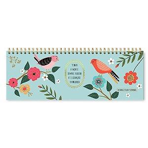 Planner Organizador Semanal Pássaros