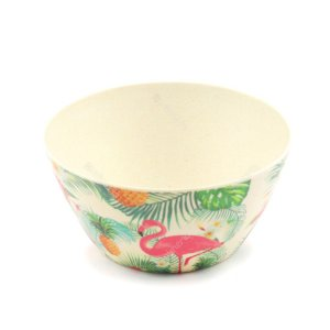 Bowl Eco de Fibra de Bambu Flamingo