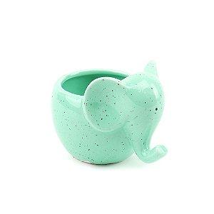 Cachepô de Cerâmica Elefantinho Verde