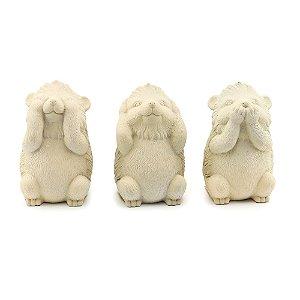 Kit Esquilos Decorativos em Cimento
