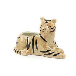 Cachepô em Cerâmica Tigre