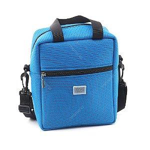 Bolsa Térmica Média de Tecido Esportivo Azul
