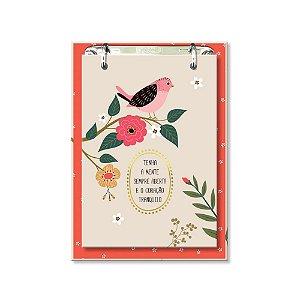 Bloco de Mesa Decorado Pássaros