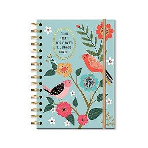 Caderno Clássico Decorado Pássaros