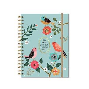 Caderno Colegial 200 Folhas Pássaros
