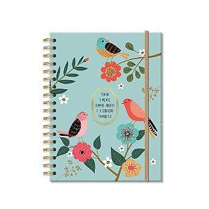 Caderno Colegial 96 Folhas Pássaros