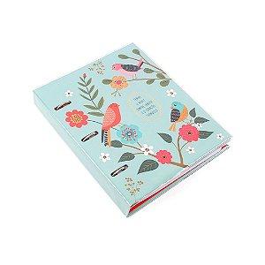 Caderno Argolado Fichário Pássaros
