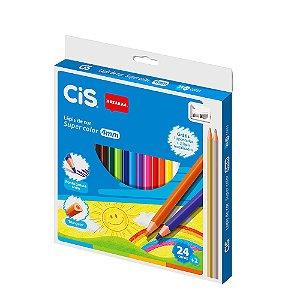 Caixa Lápis de Cor Supercolor com 24 Cores e 1 Apontador