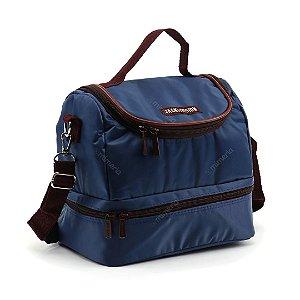 Bolsa Térmica com 2 Compartimentos Azul Marinho