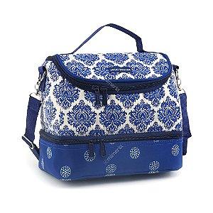 Bolsa Térmica com 2 Compartimentos Estampada Azul