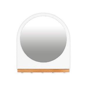 Porta-Chaves e Correspondência com Espelho Imã Branco