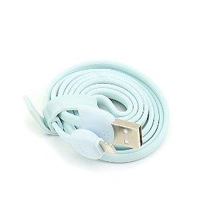Cabo USB Gatinho Azul Turquesa