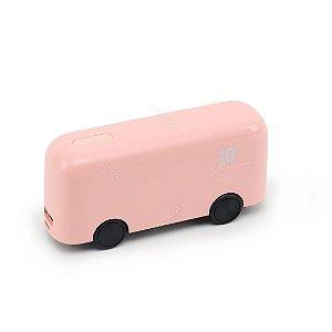 Carregador Portátil Ônibus de Londres Rosa