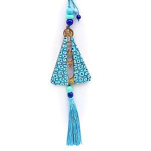 Enfeite Nossa Senhora Azul Turquesa Médio