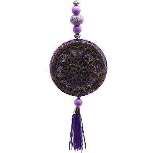 Mandala Flor de Lótus Lilás Média