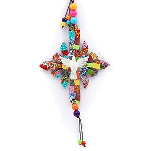 Enfeite Resplendor Divino Espírito Santo Colorido Médio