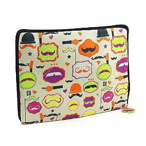 "Case para Notebook 14"" Mustache"