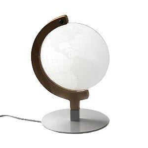 Luminária com Efeito 3D Globo Terrestre